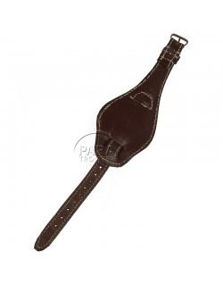 Bracelet de montre en cuir, avec cache