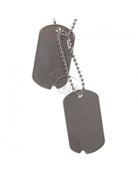 Plaques d'identité US à graver (dog tag's), WWII