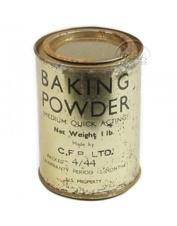 Box ration Metal, Baking Powder