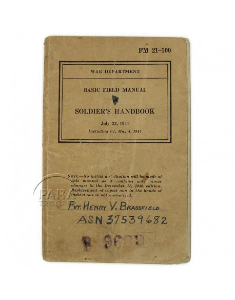 Basic Field Manual - Soldier's Handbook, 1941, nominatif