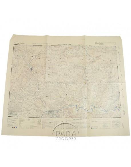 Carte de Draguignan Nord-Ouest (Sud de la France), 1944
