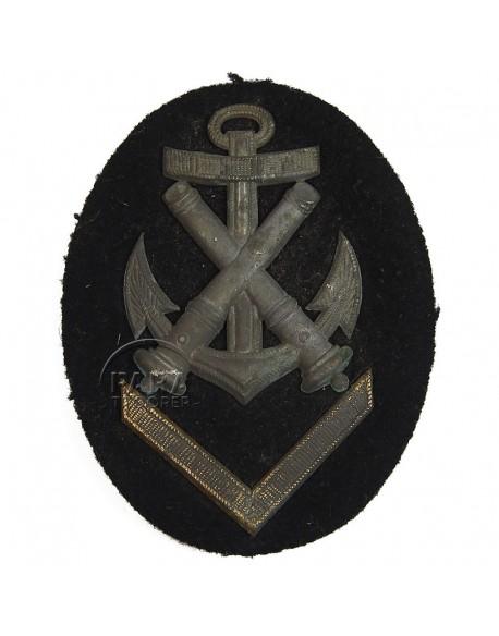 Patch, Sleeve, NCO's, Ordnance, Kriegsmarine