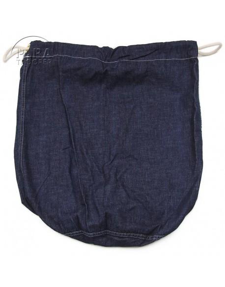 Sac à paquetage US, barrack bag, blue denim