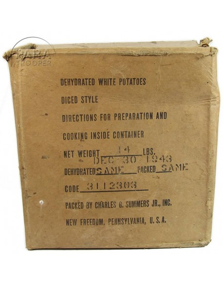 Box, Ration, Dehydrated white potatoes, 1943