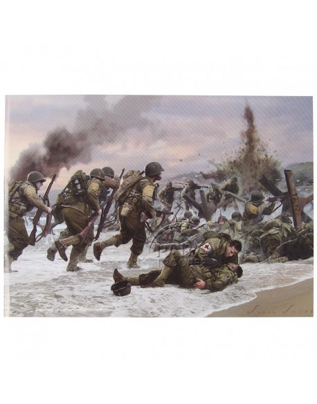 Card, Commemorative, Assault on Omaha Beach