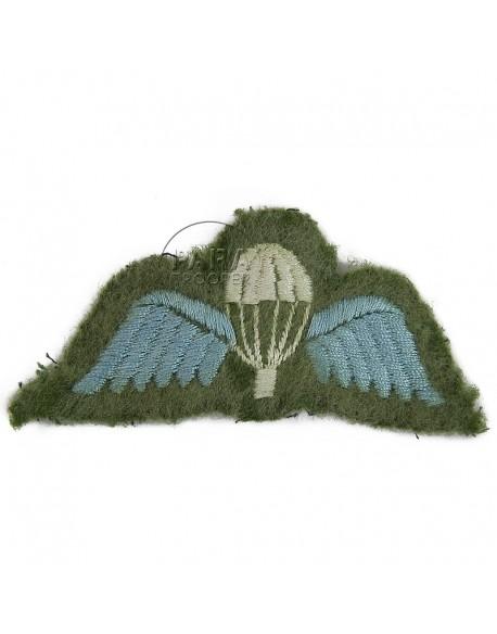 Brevet de parachutiste britannique, tissu