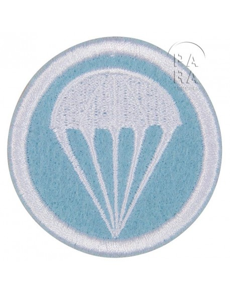 Patch, Cap, felt, Light blue, Parachutist