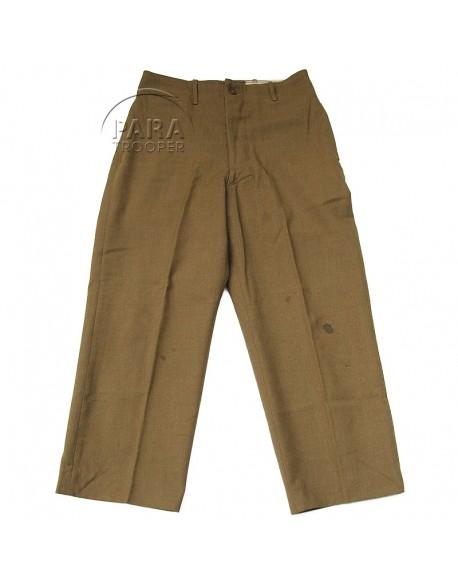 Pantalon en laine moutarde, 34 x 33, 1943
