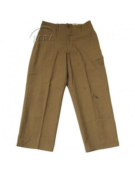 Trousers, Wool, Serge, OD, Light shade, 34 x 33, 1943