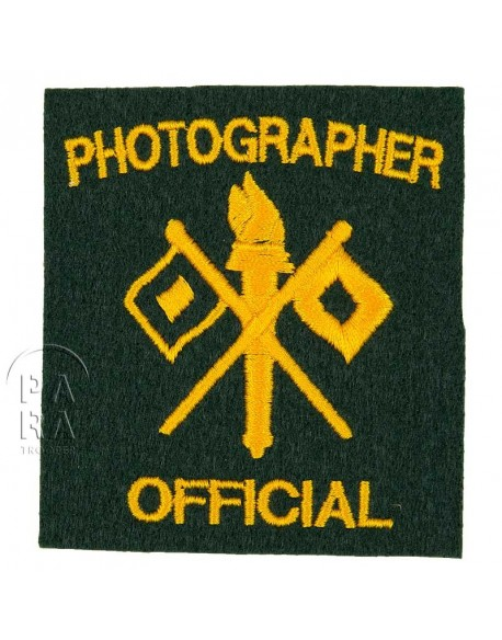 Official Photographer patch