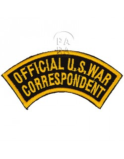 Insigne Official US War Correspondent