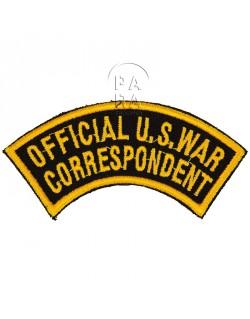 Patch, Official U.S. War Correspondent