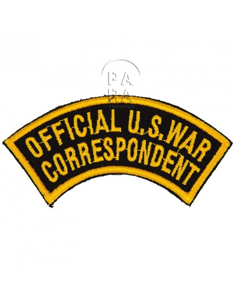 Patch, Official U.S. War Correspondent