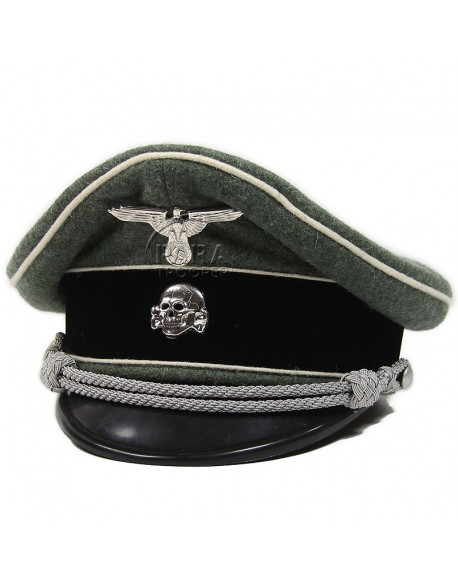 Casquette d'officier infanterie, Waffen SS