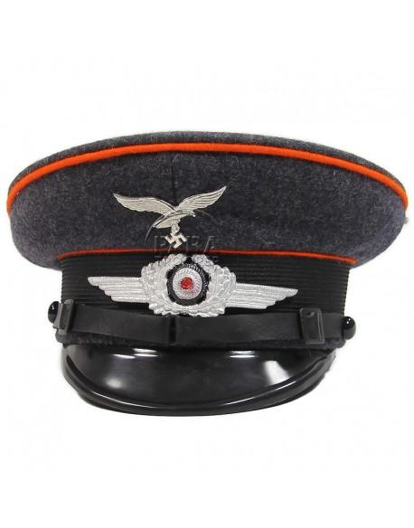Casquette sous-officier, Luftwaffe, Artillerie