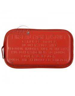 Pansement US en boite métal, type Carlisle rouge