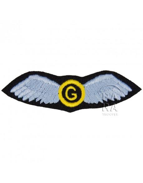 Brevet de Second Glider Pilot, tissu