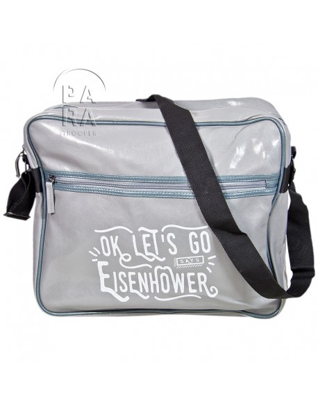 Bag, Messenger, Eisenhower, Grey
