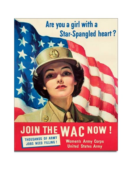 Tin Sign, Join The WAC Now !