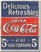 Plaque publicitaire, Coca-Cola Delicious