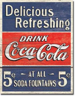 Tin Sign, Coca-Cola Delicious