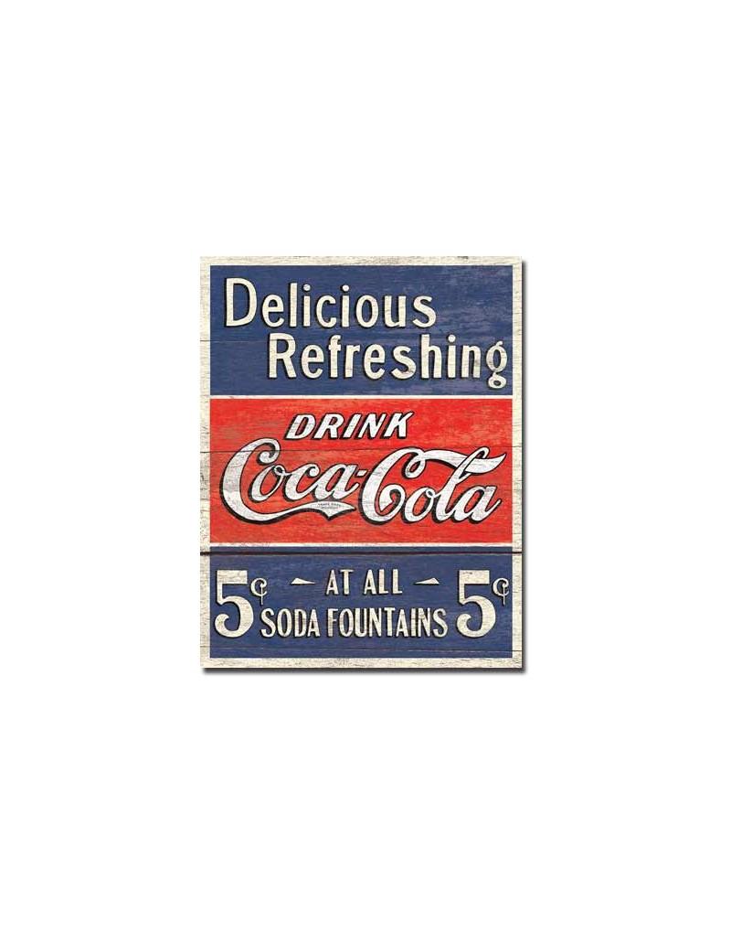 plaque publicitaire coca cola delicious paratrooper. Black Bedroom Furniture Sets. Home Design Ideas