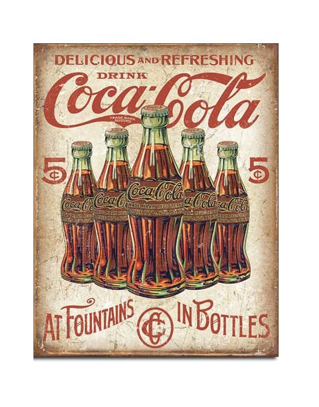 Tin Sign, Coca-Cola Retro