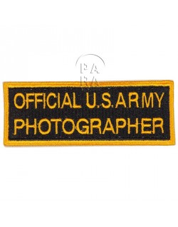 Insigne Official US Army Photographer
