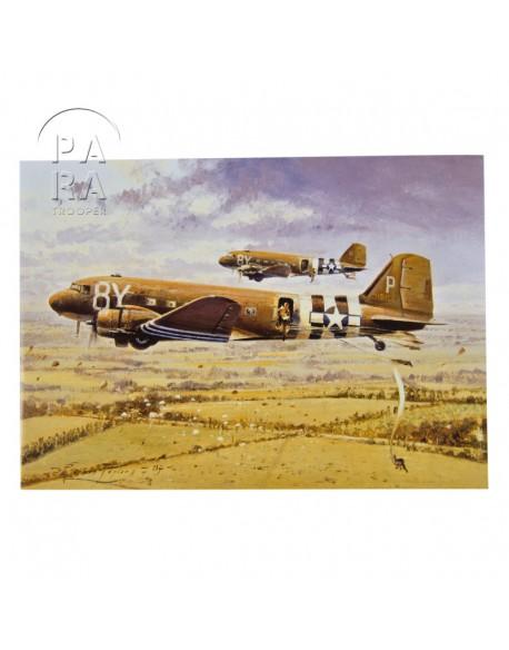 Card, Commemorative, Crash landing