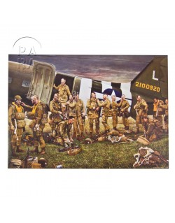 Card, Commemorative, Crash landing