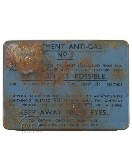Boite de pommade de décontamination, N°5, 1942, Normandie