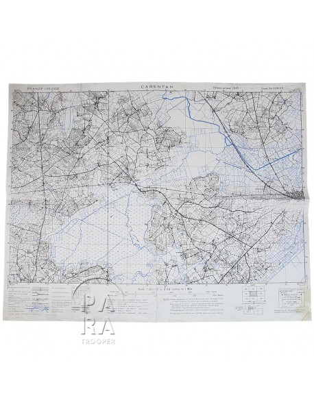 Map, US Army, Carentan, April 1944