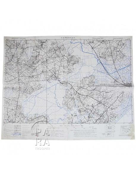Map, US Army, Carentan, April 1944