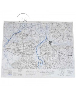 Map, US Army, Carentan / Isigny