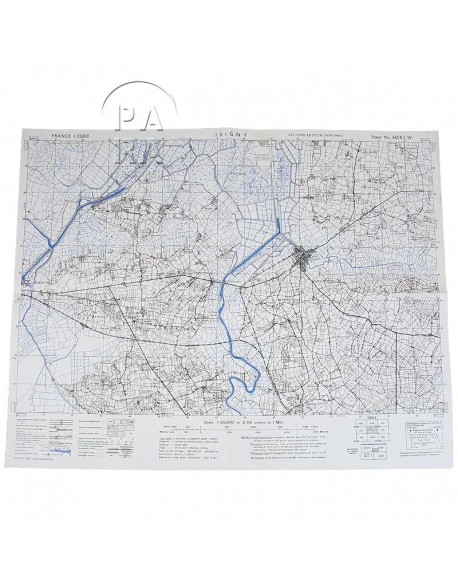 Carte de Carentan / Isigny, Avril 1944