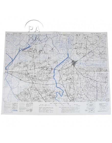 Carte de Carentan / Isigny, Avril 1944