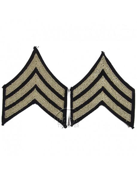Grades en tissu de Sergeant