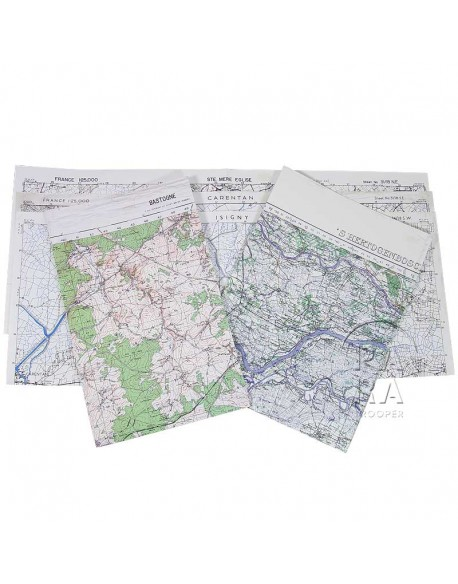 Lot de 5 cartes, secteur Para