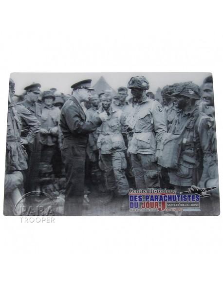 Postcard, 3D, Eisenhower