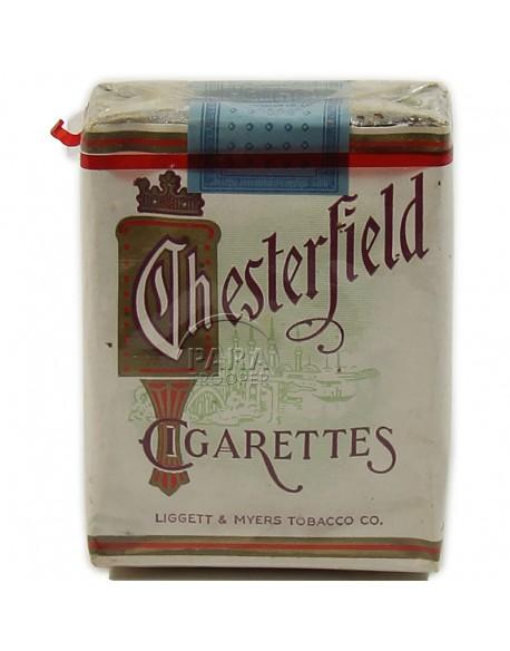 Paquet de cigarettes Chesterfield, 1941