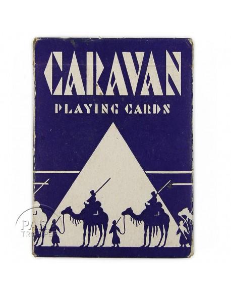 Jeu de cartes à jouer, Caravan, bleu
