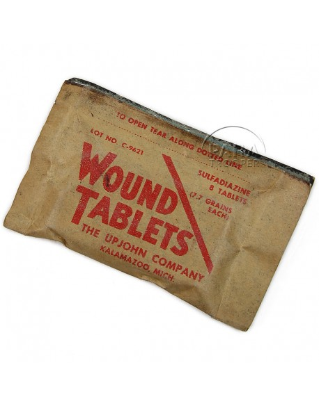 Sulfadiazine, Packet, Wound Tablets