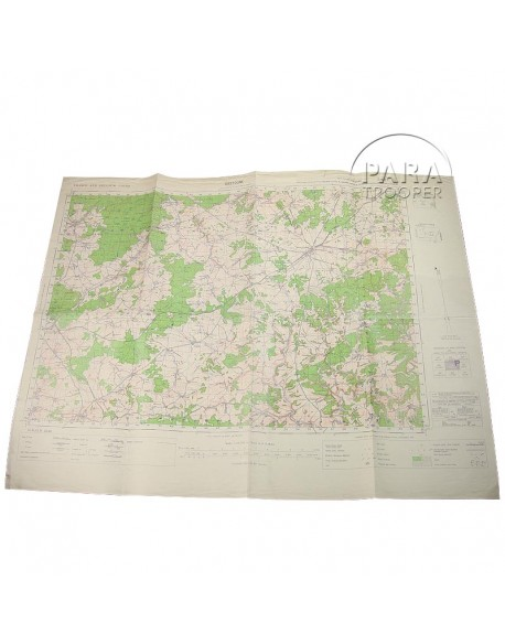 Map US Army, Bastogne