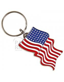 Porte-clés drapeau américain