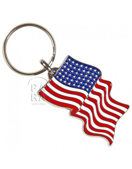 Porte-clés drapeau americain