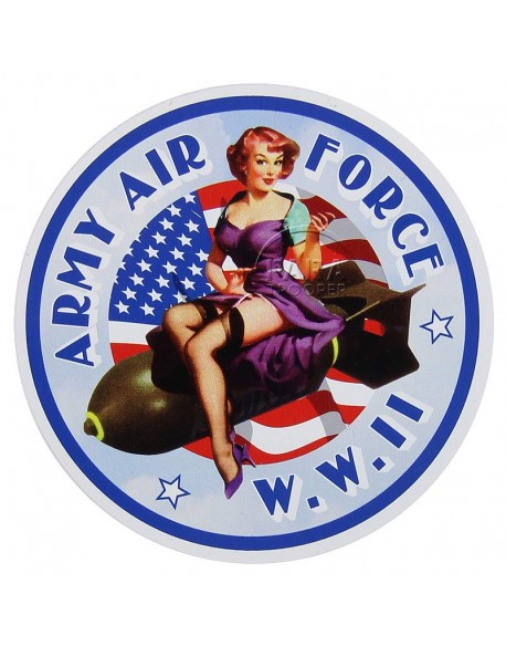 Sticker, Pin-Up, AAF