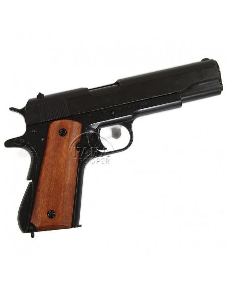 Colt M1911 A1, métal, plaquettes bois lisse, démontable