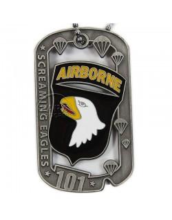 Plaque d'identité, 101e Airborne, Screaming Eagle