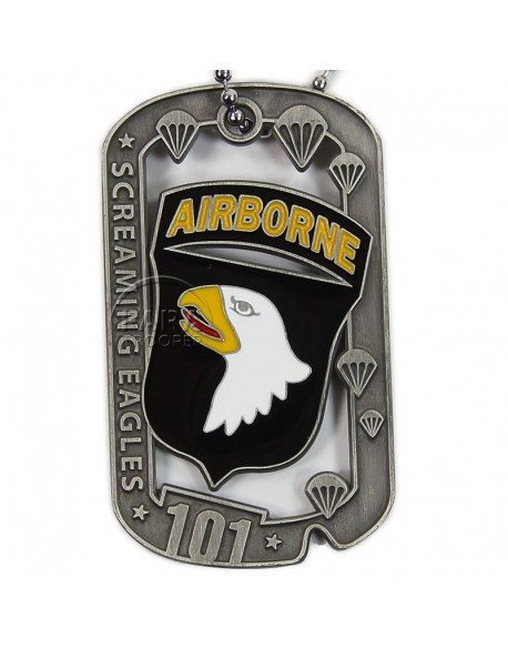 Plaque d'identité, 101e Airborne, Screaming Eagle