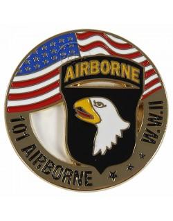 Pièce commémorative, 101e Airborne drapeau